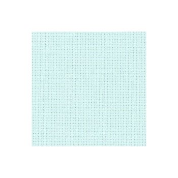 Zweigart Aida Cloth - 14 Count - Ice Blue - 1/4m