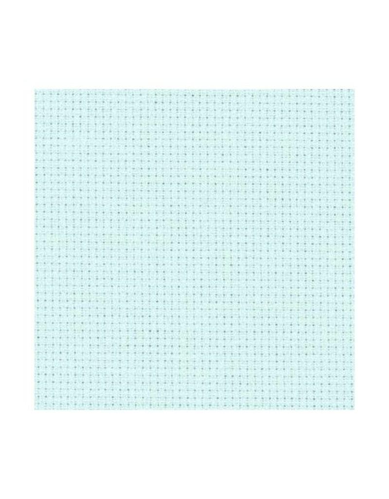 Zweigart Aida Cloth - 14 Count - Ice Blue - 1/4m