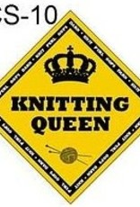 "X's & Oh's ""Knitting Queen"" Diamond Sign"