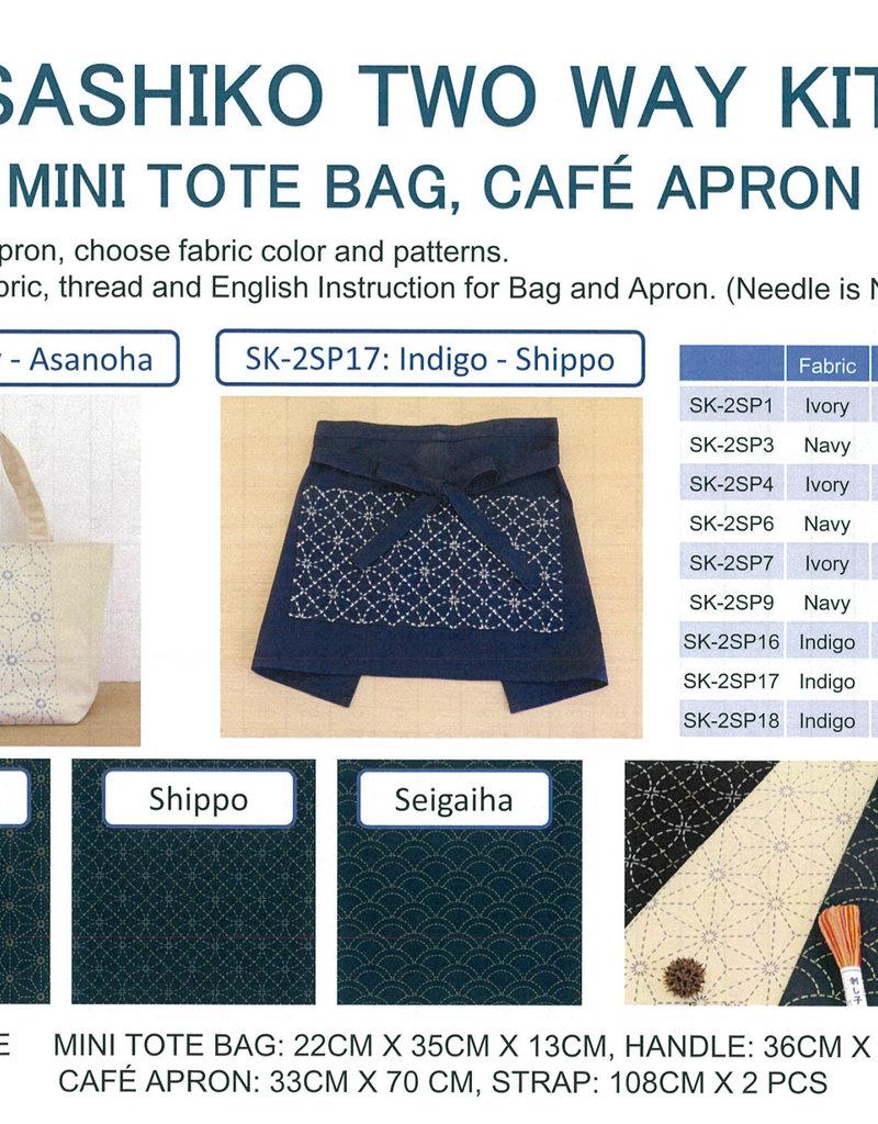 Olympus Olympus Sashiko Kit - Mini Tote Bag / Cafe Apron