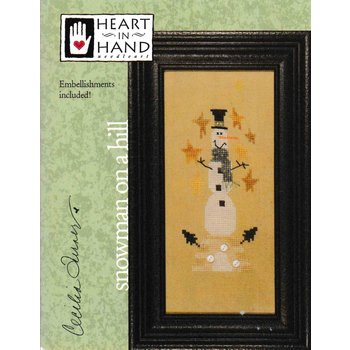Heart in Hand Needleart Heart in Hand Needleart Wee One Snowman On A Hill