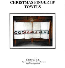 Sekas & Co. Sekas & Co. Christmas Fingertip Towels S&C-158