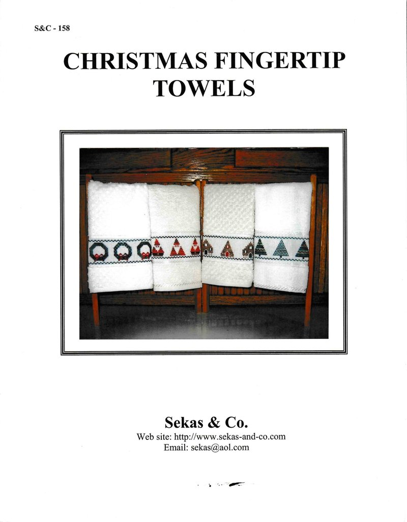 Sekas & Co. Sekas & Co. Christmas Fingertip Towels S&C-158