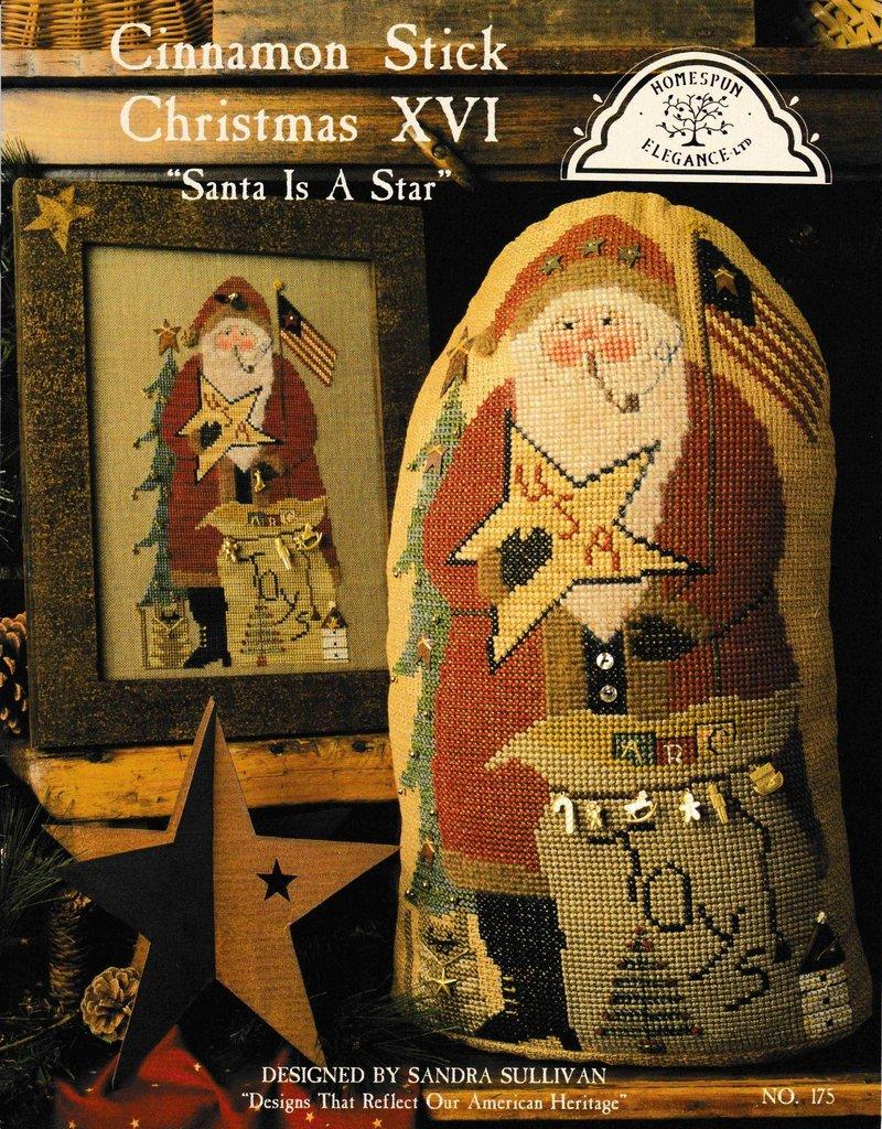 Homespun Elegance Homespun Elegance Cinnamon Stick Christmas XVI: Santa Is a Star