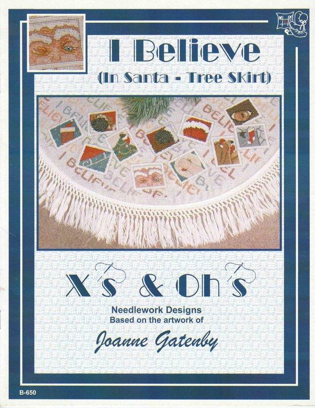 X's & Oh's X's & Oh's I Believe (In Santa - Tree Skirt)