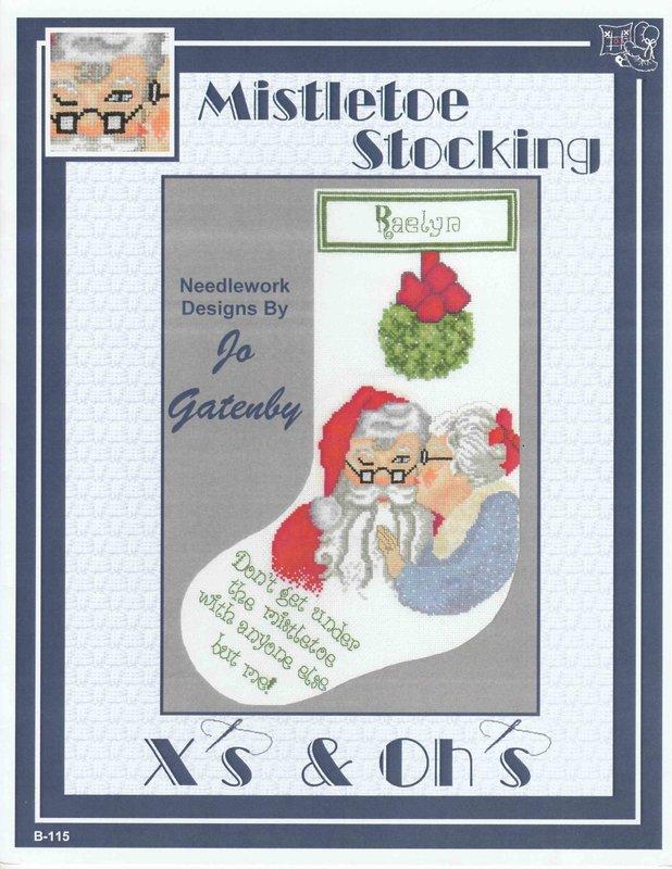 X's & Oh's X's & Oh's Mistletoe Stocking