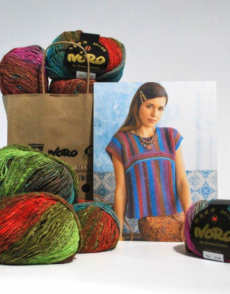 Noro Two Way Top in Noro Silk Garden Lite