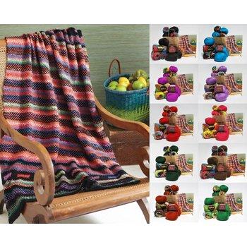 Noro Woven Stitch Blanket in Noro Taiyo / Ella Rae Cozy Soft Chunky