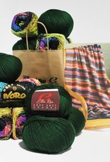 Noro Woven Stitch Blanket in Noro Taiyo / Ella Rae Cozy Soft Chunky