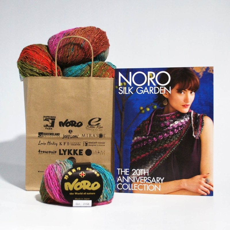 Noro Hyacinth Stitch Shawl in Noro Silk Garden Lite