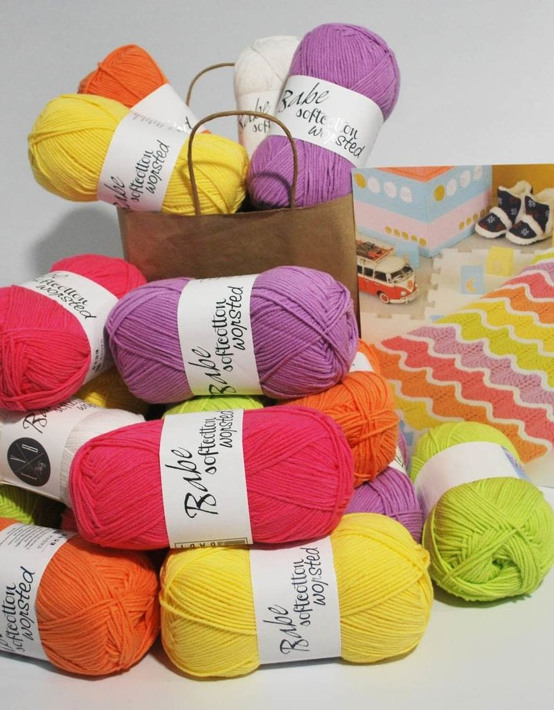 Euro Yarns Mexican Wave Blanket in EYB Babe Softcotton Worsted
