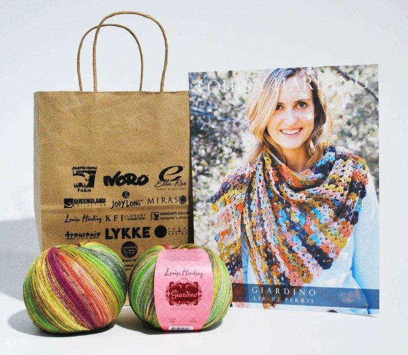 Louisa Harding Perris Crochet Shawl in Louisa Harding Giardino