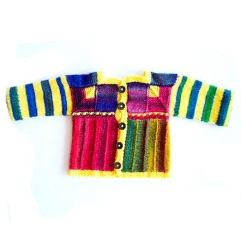 Urth Yarns Myrna's Cardigan Kit in Urth Uneek Fingering &  Harvest Fingering