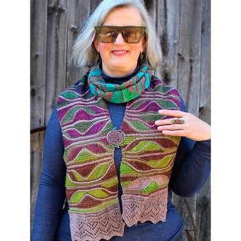 Urth Yarns X-Wing Scarf Kit in Uneek Fingering & Monokrom Fingering