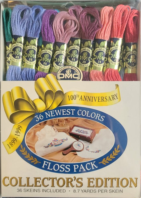 DMC DMC Collector's Edition Floss Pack 36 Newest Colors 100th Anniversary 1899-1999