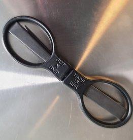 """Slip n Snip 3 3/4"""" Folding Stainless Steel/Black Scissors"""