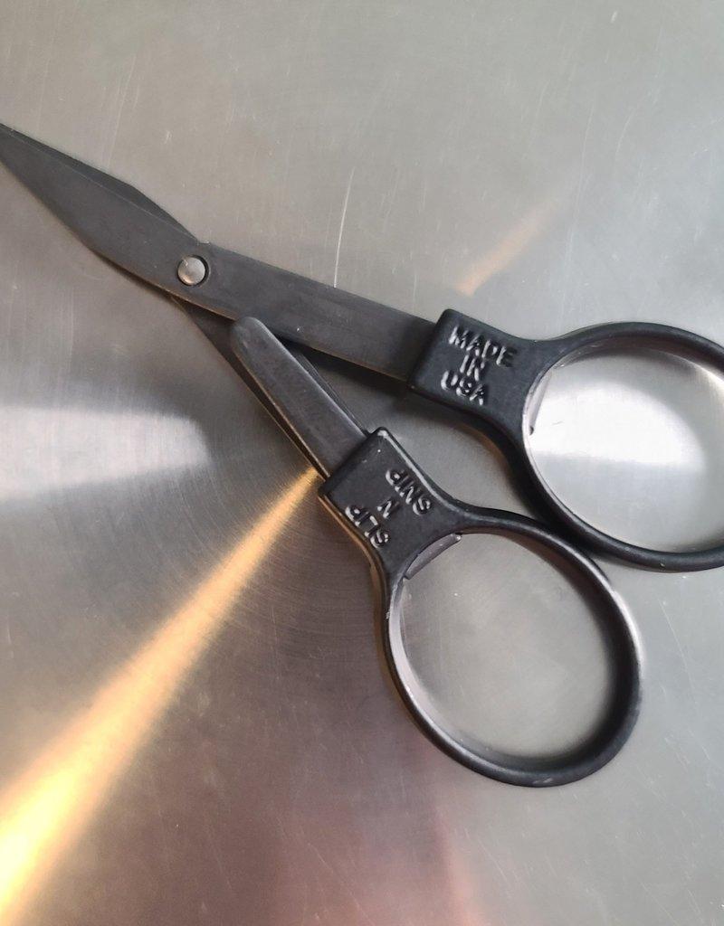 """3 3/4"""" Folding Stainless Steel/Black Scissors"""