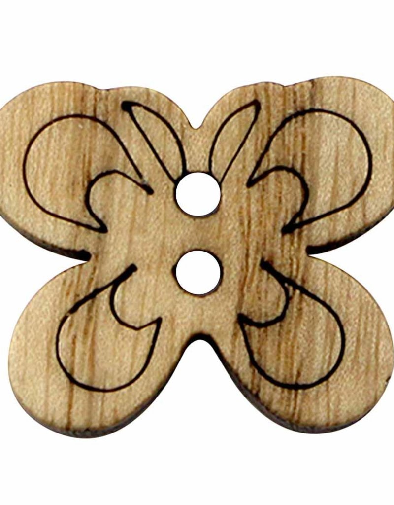 Cirque Cirque Butterfly 23mm 2-Hole Button Natural