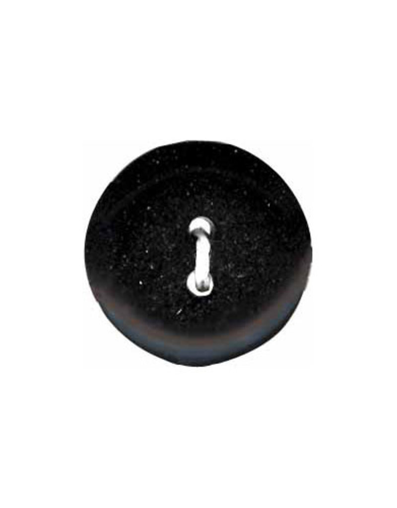 Elan ELAN Round Black 14mm 2-Hole Button- 4-pk