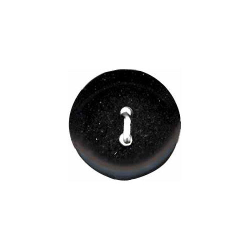 Elan ELAN Round Black 14mm 2-Hole Button- 4-pk