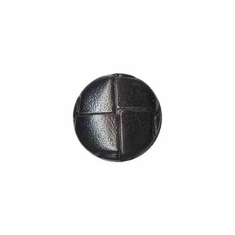 Elan ELAN Round Black 15mm Shank Button - 4-pk