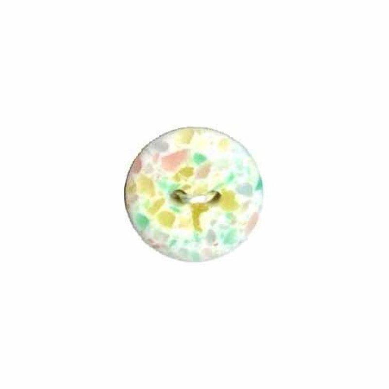 Elan Gutermann Round Floral 15mm 2-Hole Button - 4-pk