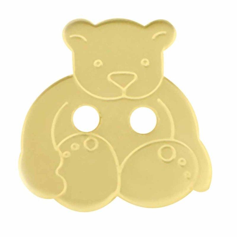 Cirque Cirque Teddy Bear 18mm Shank Button Neutral