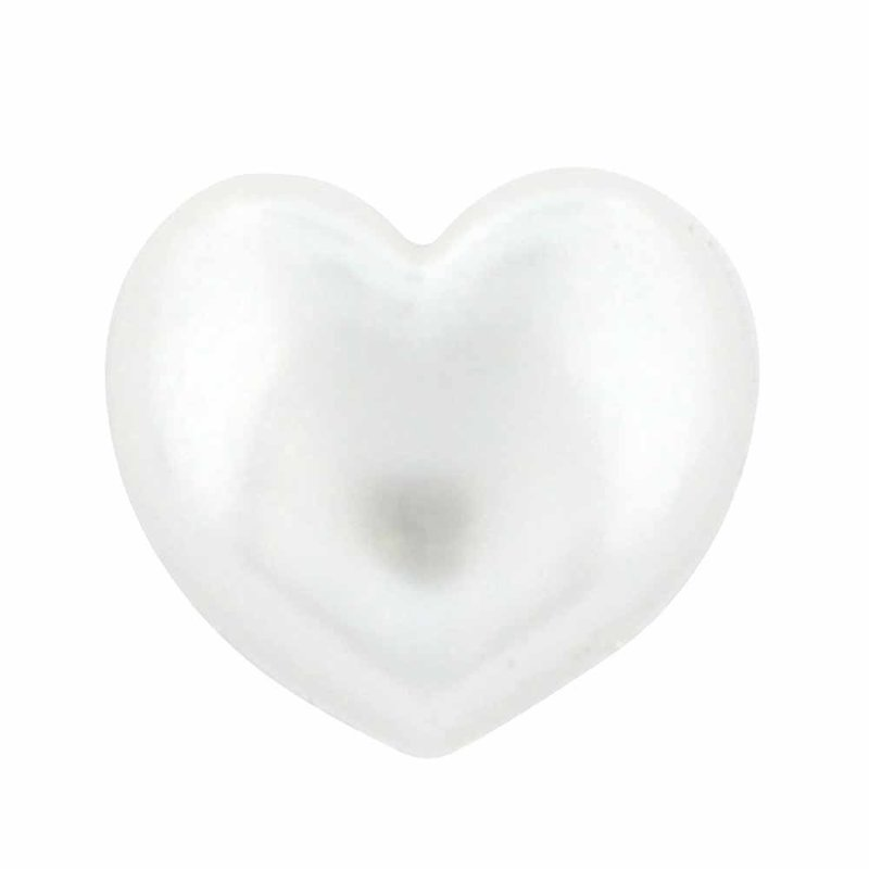 Cirque Cirque Heart 12mm Shank Button Pearl
