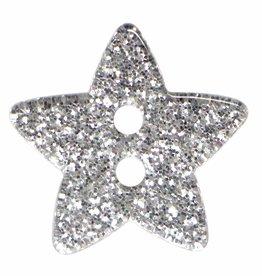 Cirque Cirque Sparkly Stars 18mm Shank Button Silver