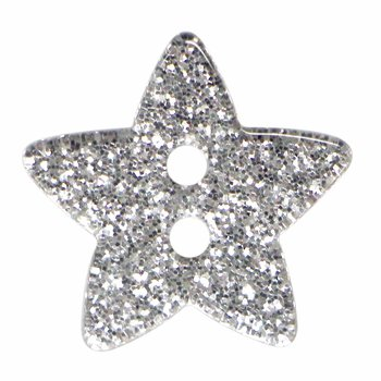 Cirque Cirque Sparkly Stars 18mm Shank Button Silver