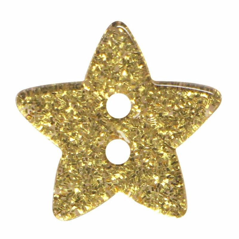 Cirque Cirque Star 18mm 2-Hole Button Gold