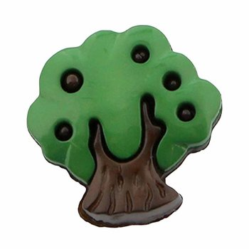 Cirque Cirque Tree 18mm Shank Button Green