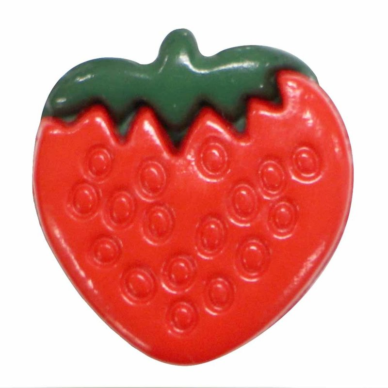 Cirque Cirque Strawberry 15mm Shank Button Red