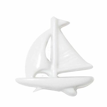 Cirque Cirque Sailboat 18mm Shank Button White