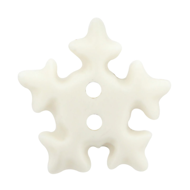 Cirque Cirque Snowflake 25mm Shank Button White