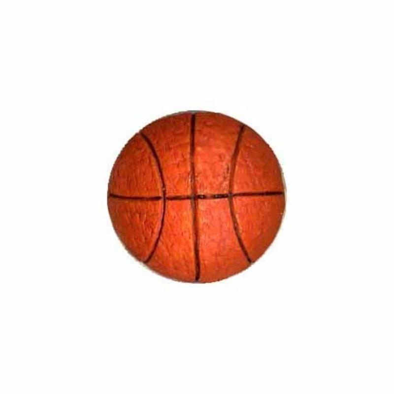Cirque Cirque Basketball 18mm Shank Button Orange