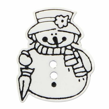 Cirque Cirque Snowlady 25mm Shank Button White