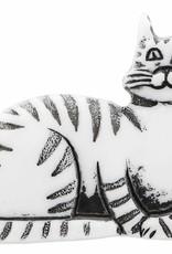 Cirque Cirque Cat 30mm Shank Button White