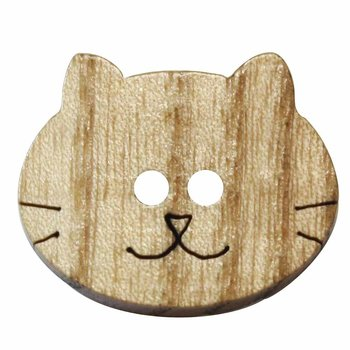Cirque Cirque Wooden Cat 23mm Shank Button