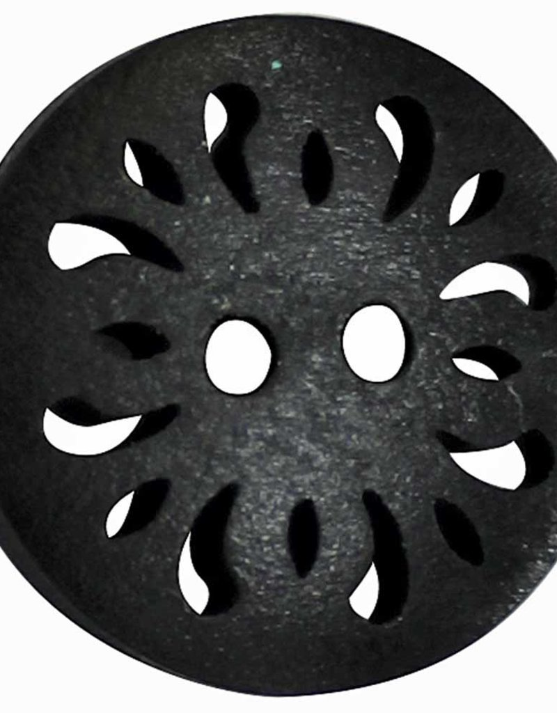Inspire 20mm 2-Hole Btn, Black