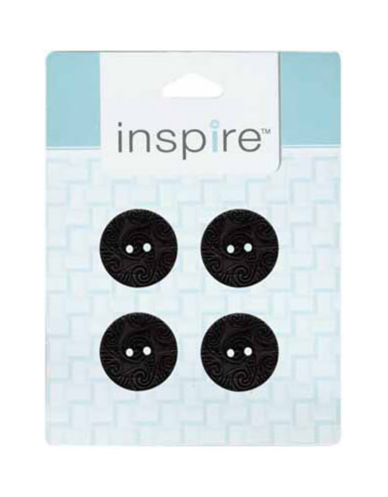 Inspire 23mm 2-Hole Btn, Black