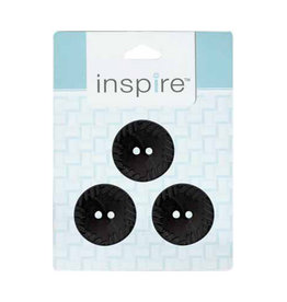 Inspire 30mm 2-Hole Btn, Black