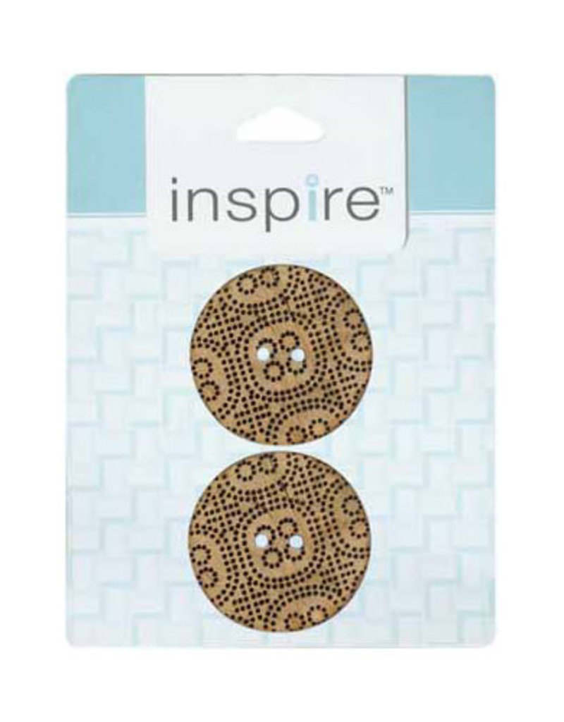 Inspire 38mm 2-Hole Button, Lt. Brown