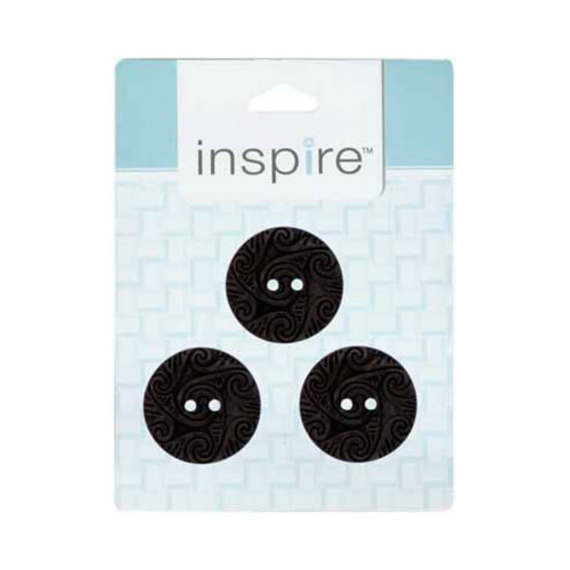 Inspire 30mm 2-Hole Btn, Brown