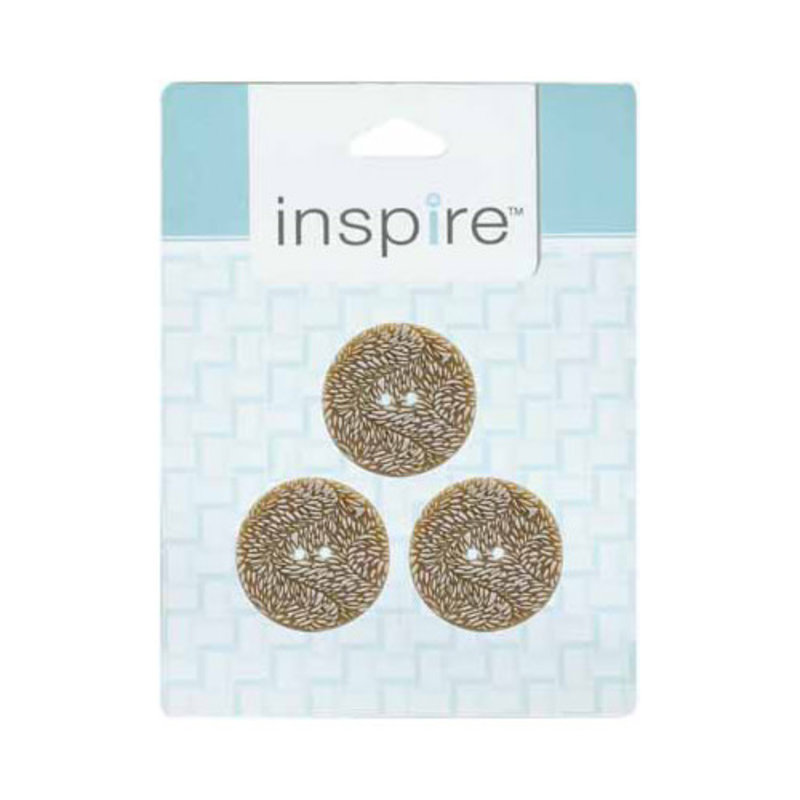 Inspire 28mm 2-Hole Btn, Beige