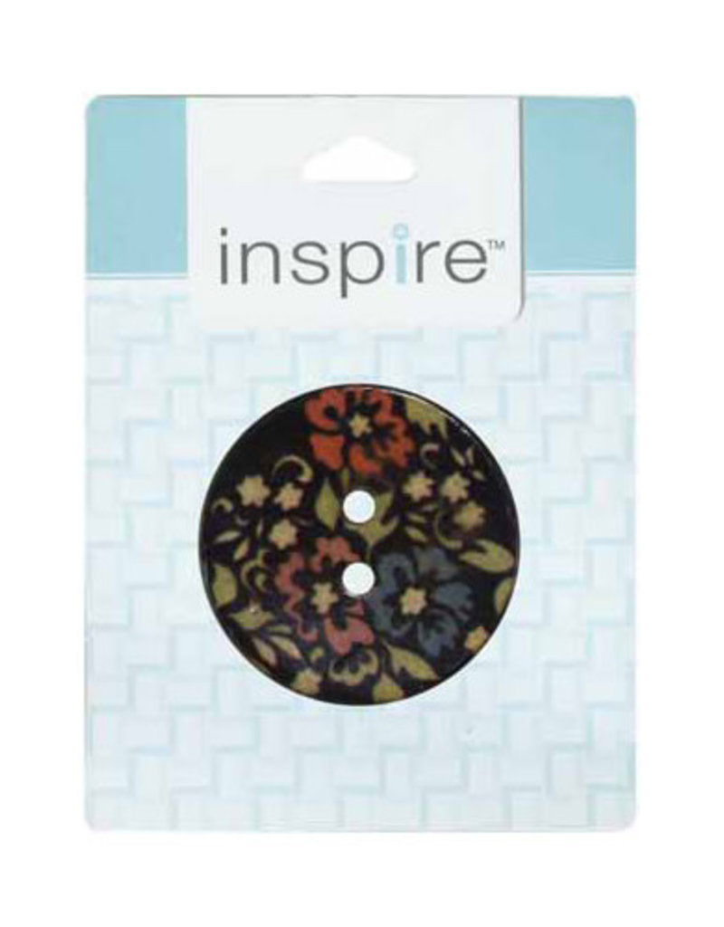 Inspire 41mm 2-Hole Btn, Black