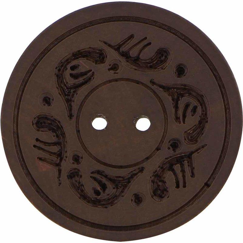 Inspire 34mm 2-Hole Btn, Dk. Brown