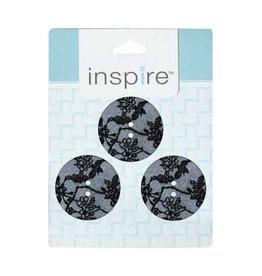 Inspire 28mm 2-Hole Btn, Grey