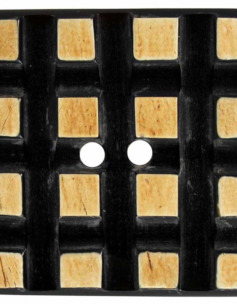 Inspire 56mm 2-Hole Btn, Tan & Brown