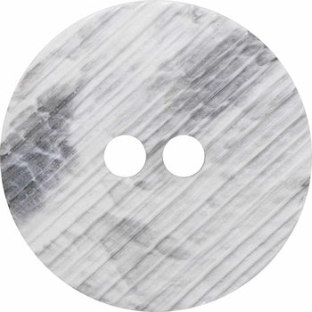 Inspire 34mm 2-Hole Btn, White